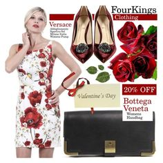 """FourKingsClothing: Enjoy 20% OFF"" by pastelneon ❤ liked on Polyvore featuring Dolce&Gabbana and Bottega Veneta"