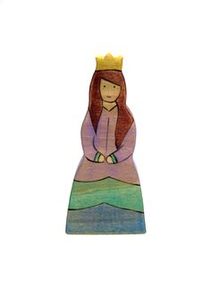 Wooden Waldorf Toy  Princess Wooden Toy  by ArmadilloDreams, $14.00