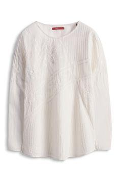 edc - Bluse mit Häkelspitze im Online Shop kaufen