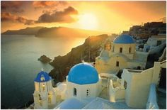Santorini, Greek Islands  Practically any of the Greek Islands are a must for island-seeking tourists. Santorini provides a gentle refuge with its geological morphology. Here you will find towering cliffs overlooking the deepest levels of surrounding sea and vast beaches with one of the best sunsets.