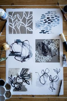 Textiles Sketchbook, Art Sketchbook, Mixed Media Painting, Oil Painting Abstract, Abstract Art, Painting Art, Watercolor Painting, Modern Art Paintings, Oil Paintings