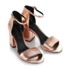 Alexander Wang ABBY METALLIC SANDAL WITH ROSE GOLD Heels | Official... ($450) ❤ liked on Polyvore featuring shoes, sandals, heels, alexander wang, alexander wang shoes, metallic sandals, metallic shoes and alexander wang sandals