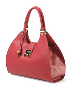 Structured Tote With Lock Tote
