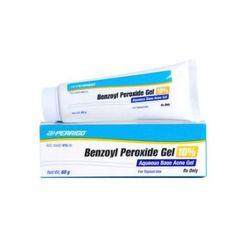 Perrigo Benzoyl Peroxide 10 Percent Hydroalcoholic Base Acne Gel - 60 Gm, Ivory