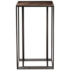 Loft Binate Minimal Art Deco Occasional Table in Blackened Steel and Brass | From a unique collection of antique and modern side tables at https://www.1stdibs.com/furniture/tables/side-tables/