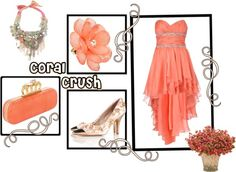 Coral Crush, created by timekeepermgc on Polyvore