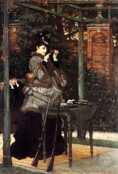 At the Rifle Range (c. 1869) by Tissot