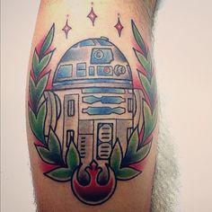 R2-D2.  Instagram-- @perjtattoo  #StarWars #Tattoo #StarWarsTattoo