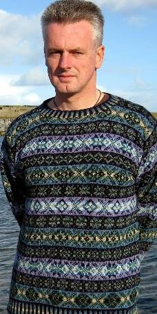"Skaw Taing Hand Knit Fair Isle Sweater, Jumper :: Mary Williamson :: Skaw Taing Fair Isle. AND YOU CAN ORDER ONE TO XXL (50"" chest)."