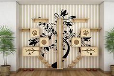 kit-para-gatos-playground-ponte-escada-prateleira-tocas-arranhador-para-gatos #CatGatos