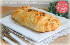 Solomillo Wellintong, solomillo con hojaldre, cebolla caramelizada, manzana, receta casera, fácil, rápida, Cocina con Marta