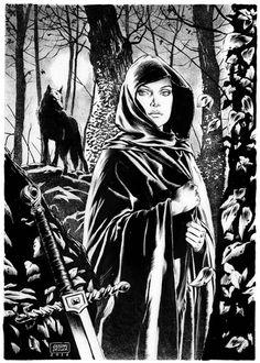 Isabeau d'Anjou Ladyhawk - Giuseppe De Luca Comic Art