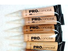 lagirlcosmetics HD Pro Concealer this concealer is very famous in the beauty community, I know a lot of influencers who regularly use it and who actually like it, and is actually worth every dime. This is one concealer that will concea Makeup Goals, Makeup Kit, Skin Makeup, Makeup Inspo, Makeup Inspiration, Makeup Brushes, Beauty Makeup, Top Beauty, Eyebrow Makeup