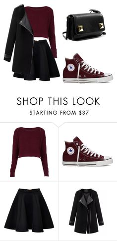 """converse"" by tania-alves ❤ liked on Polyvore featuring Topshop, Converse, MSGM, Chicnova Fashion and Zara"
