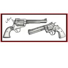 Revolver Tattoo Drawing | revolver gun drawing