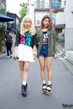 high waist pants/shorts/skirts ... Japanese (Harajuku) Street Fashion Trends for Summer 2013 |