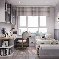 Small Room Design Bedroom, Room Ideas Bedroom, Home Room Design, Home Interior Design, Office Room Ideas, Office Setup, Home Office Bedroom, Home Decor Bedroom, Study Room Decor