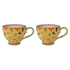 75343589db9 Gracie China 14 Ounce Dutch Wax Hand Paint Ceramic Jumbo Cup