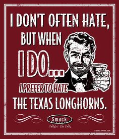 5b91013d45a Oklahoma Sooners Fans. I Prefer to Hate (Anti-Texas). Metal Man Cave Sign