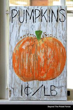 Rustic Pumpkin Sign for Fall