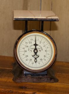 SALE- Antique Scale,1899 Pelouze Mfg. Co. Chicago, Primitive Patina, Antique, Rustic Farmhouse, Home & Living, Vintage Scale, General Store