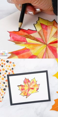Fall Leaf Watercolor Art Project for Kids - - There are so many amazing Fall Leaf Art Projects online that it's hard to go wrong! We've done quite a few over the years with great success, but this year I think we've hit gold.