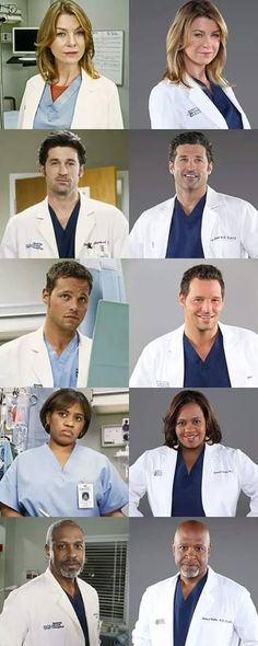 Grey's anatomy characters.
