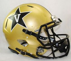 Vanderbilt Commodores Riddell Authentic Speed Helmet