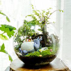 A Set 4 Totoro Terrarium Material Accessories by RukawaBeads