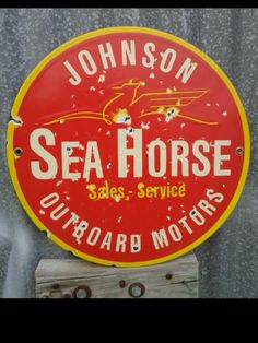 Johnson Outboard Sales and Service Porcelain Sign