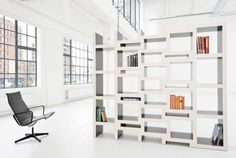 REK is a bookcase that grows with your book collection. The more books the bigger the bookcase gets.   http://www.reinierdejong.com/2011/03/rek-bookcase-3/