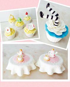 Cupcakes  Alice no país das maravilhas  Cakedesign