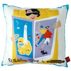 Whitley Bay cushion by Michelle Mason