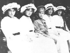 The Imperial Five, growing up fast!  Left to right:  Grand Duchess Tatiana, Grand Duchess Olga, Czarevich Alexei, Grand Duchess Maria, and Grand Duchess Anastasia.