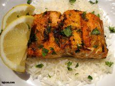 Grilled Moroccan Salmon - Tajoon