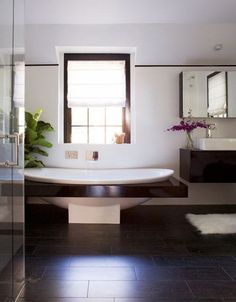 bath bath Beautiful Bathrooms, Dream Bathrooms, Contemporary Baths, Modern Baths, Modern Bathroom, Decorating Ideas, Decor Ideas, Ideas Baños, Bathroom Interior Design