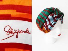 50s Schiaparelli Scarf Hipster Turban Vintage Art by hanniandmax, $69.00  #headcover #headscarf #tichel