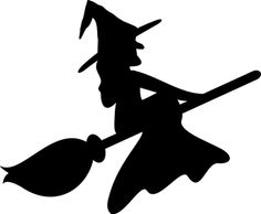 witch cut out pattern witch on broom pattern free pumpkin