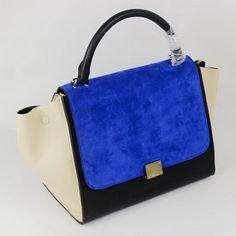 Pas Cher Sac Céline classique en cuir bleu Grand Assortiment_421.jpg (420×420)