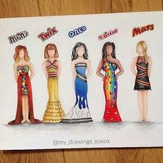 Whos your FAVE Candy Princess? By: @my_drawings_xoxox _ Follow us for more! Women's Dresses - Dress for Women - http://amzn.to/2j7a1wP