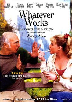 WHATEVER WORKS - WOODY ALLEN - PATRICIA CLARKSON - 2009 - FILMPOSTER A4