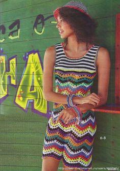 Crochetemoda Blog: Crochet - Vestido