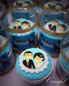 mini #cupcakes Cupcakes Design, Mini Desserts, Cakepops, Mini Cupcakes, Clever, Birthday Cake, Party Ideas, Food, Cake Pop