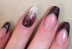 Chocolate or Cabernet with Diamond Glitter Gel