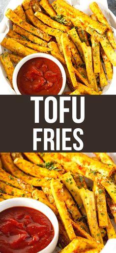 Fries Recipe, Easy Dinner Recipes, Appetizer Recipes, Easy Meals, Appetizers, Best Vegetarian Recipes, Tofu Recipes, Healthy Recipes, Food Recipes
