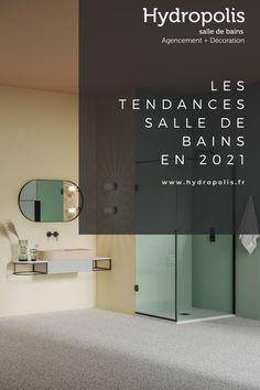 Vous avez prévu de rénover votre salle de bains en 2021 ? Vous vous interrogez sur les dernières tendances ? Solid Surface, Decoration, Bathroom Lighting, Mirror, Furniture, Design, Home Decor, Bathtub, Shower