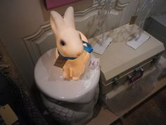 rabbit type lamp in the children's room in different colors #bunnyinabow