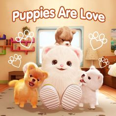 🎼 I like kitties~ l like bunnies. I even like cats, even if they're grumpy. I like fish. I like guppies. There's nothing cuter than cute little puppies! 🎵🐶 Happy #NationalPuppyDay! 💕Check out our 'Cute little puppies' song on Badanamu Youtube Channel! . . . Link: https://youtu.be/nMyQDukSr2o #badanamu #puppyday #preschool #animation #song #puppy #petlovers #puppies