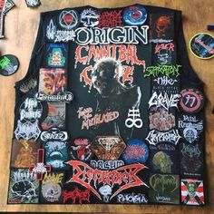 Chris from Germany #battlejacket #metalpatches #metaljacket #kutte #bandpatch #bandpatches #battlevest #heavymetal #thrashmetal #denimjacket #patchedvest #deathmetal #metalpatches #metal #wovenpatch #paradiselost #metalmaniac #vader