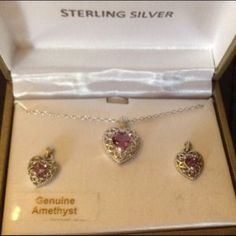 I just discovered this while shopping on Poshmark: STERLING SILVER SET! (NEW) REDUCED. Check it out!  Size: OS
